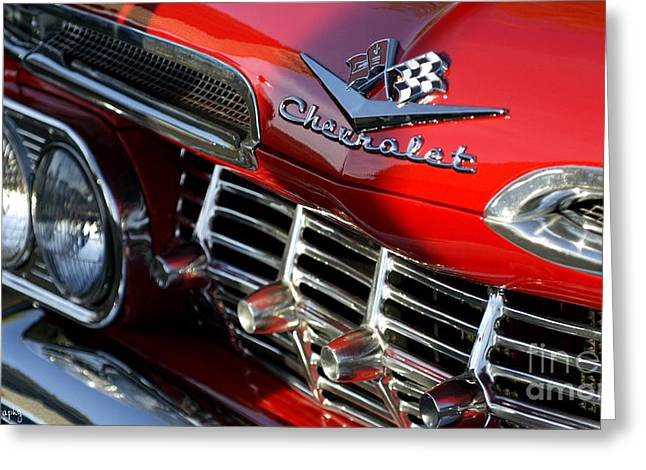 1959 Impala Greeting Card by Awildrose Photography