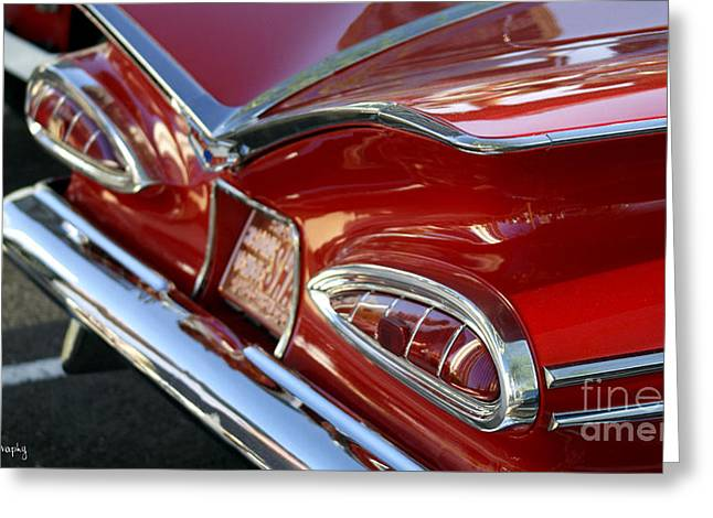 1959 Impala Hardtop Sport Coupe Greeting Card by Awildrose Photography
