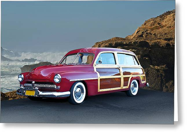 1959 Mercury Woody Wagon Greeting Card by Dave Koontz