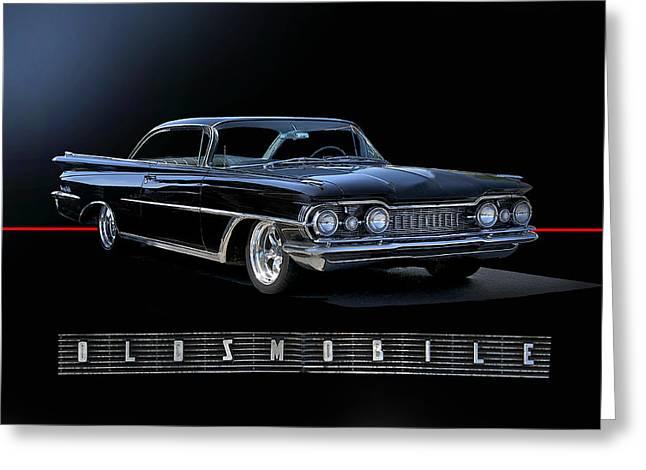 1959 Oldsmobile Custom I Greeting Card by Dave Koontz