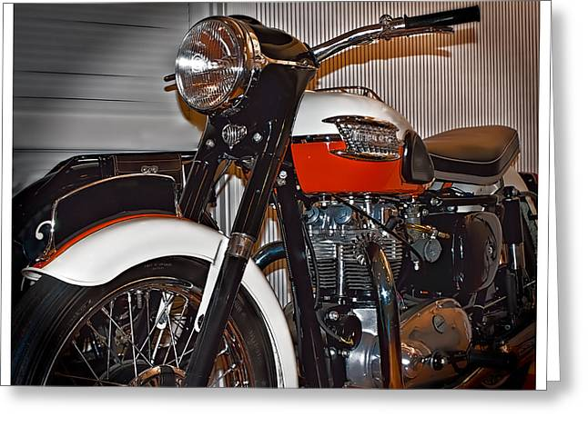 Greeting Card featuring the photograph 1959 Triumph Motorcycle by Steve Benefiel