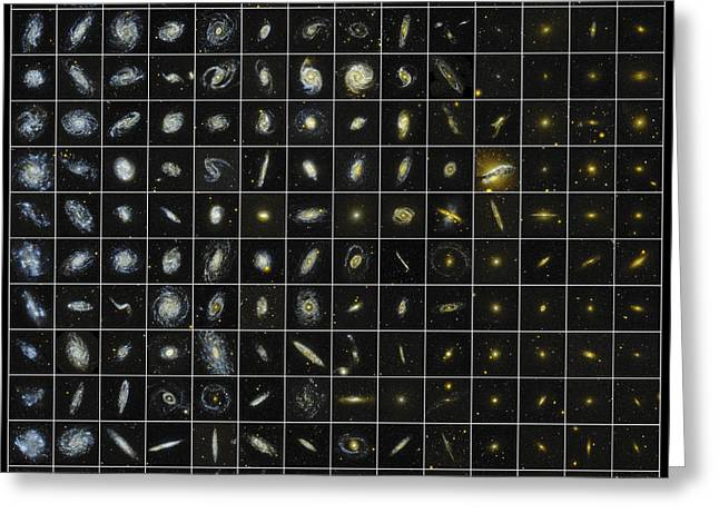 196 Galaxies Greeting Card by Science Source