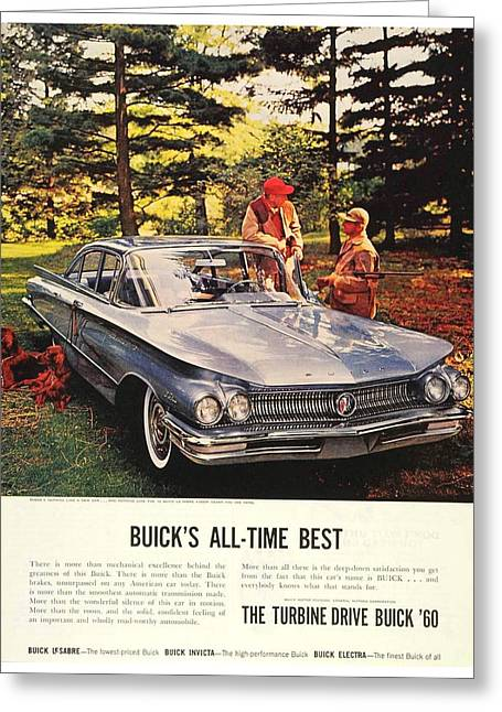 1960 - Buick Lesabre Sedan Advertisement - Color Greeting Card