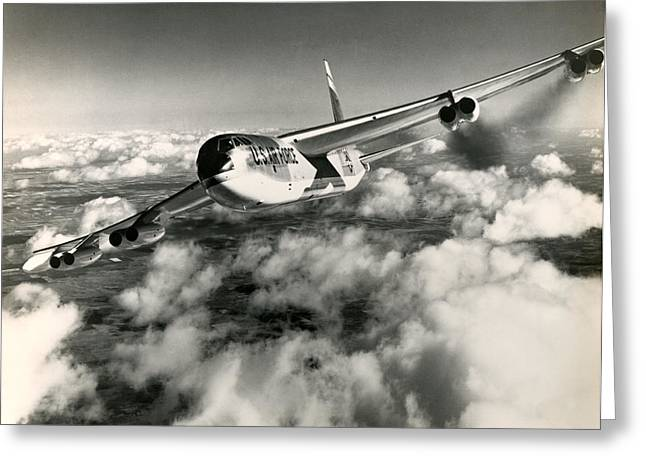 1960 Air Force B-52 In Flight Greeting Card