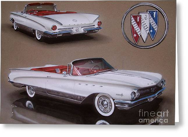 1960 Buick Electra Greeting Card