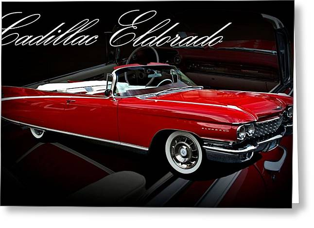 1960 Cadillac Convertible El Dorado  Greeting Card