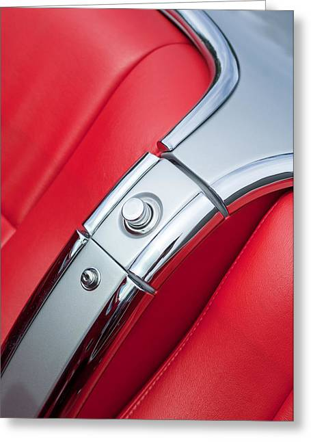 1960 Chevrolet Corvette Compartment Greeting Card by Jill Reger