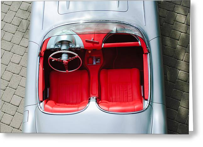 1960 Chevrolet Corvette Interior Greeting Card by Jill Reger