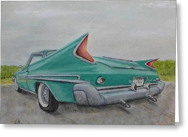 1960 Classic Saratoga Chrysler Greeting Card
