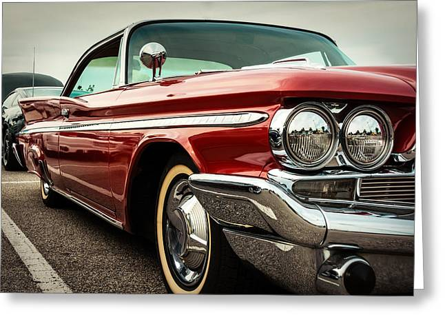 1960 Desoto Fireflite Coupe - Three Quarters Front Greeting Card by Jon Woodhams