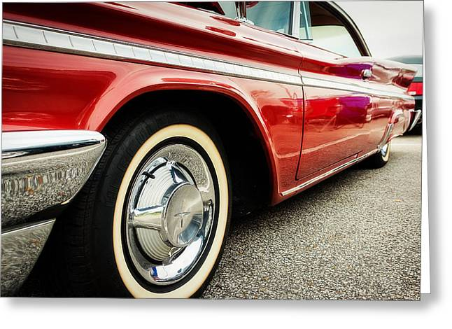 1960 Desoto Fireflite Coupe Low Side View Greeting Card by Jon Woodhams