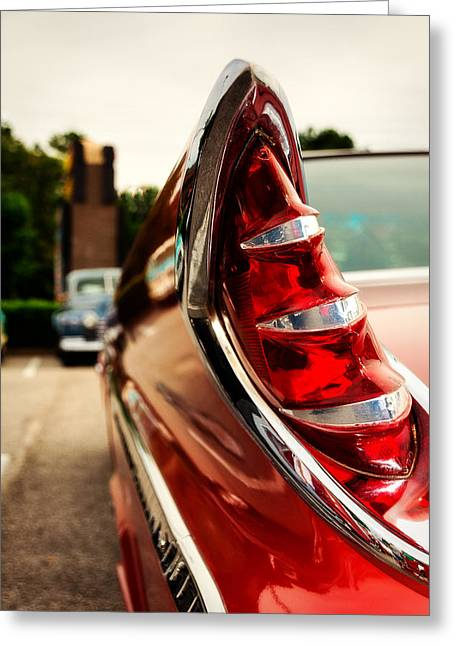 1960 Desoto Fireflite Coupe Tailfin Greeting Card by Jon Woodhams