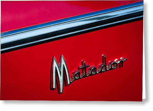 1960 Dodge Matador Emblem Greeting Card by Jill Reger