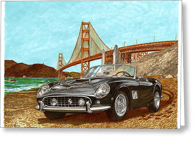 1960 Ferrari 250 California G T Greeting Card by Jack Pumphrey