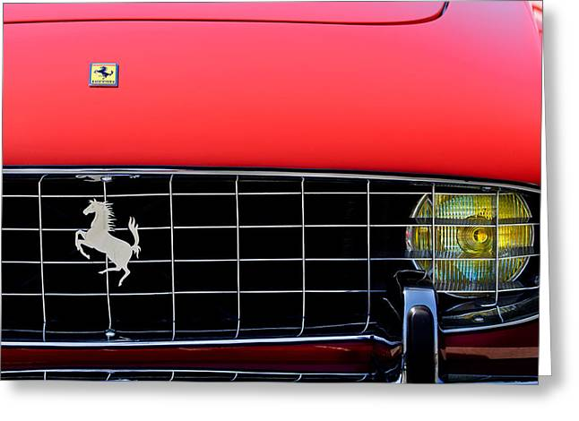 1960 Ferrari 250 Gt Cabriolet Pininfarina Series II Grille Emblem Greeting Card by Jill Reger
