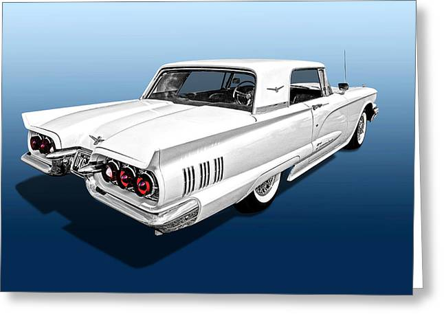 1960 Ford Thunderbird Greeting Card