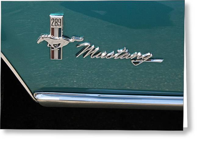 1960 Mustang  Greeting Card by Suzanne Gaff