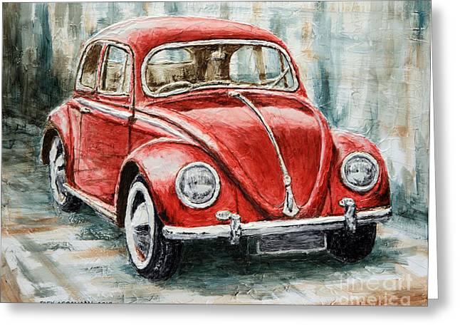 1960 Volkswagen Beetle 2 Greeting Card