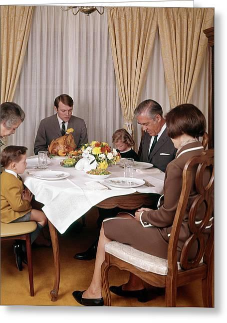 1960s 1970s Three Generation Family Greeting Card