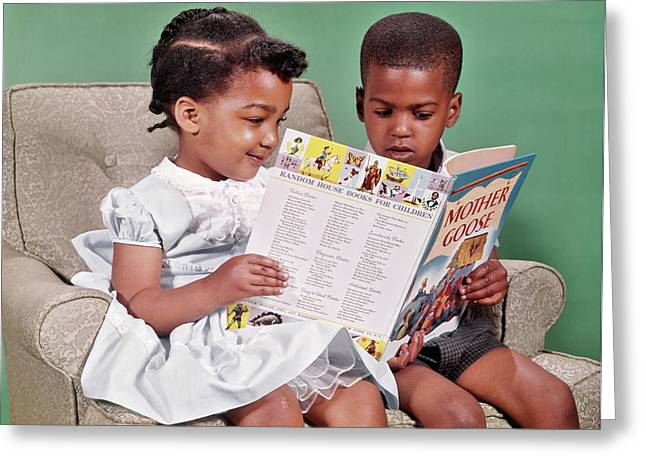 1960s African American Boy And Girl Greeting Card