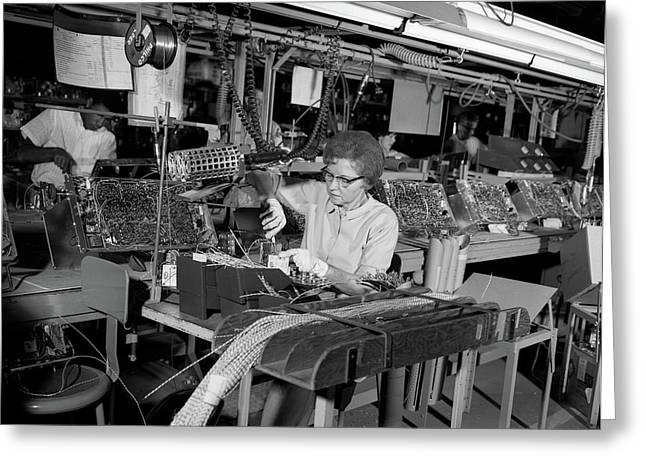 1960s Assembly Line For Wiring Of Color Greeting Card
