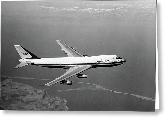 1960s Boeing 747 In Flight Greeting Card