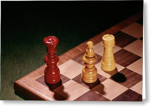 1960s Chess Pieces Checkmate Board Game Greeting Card