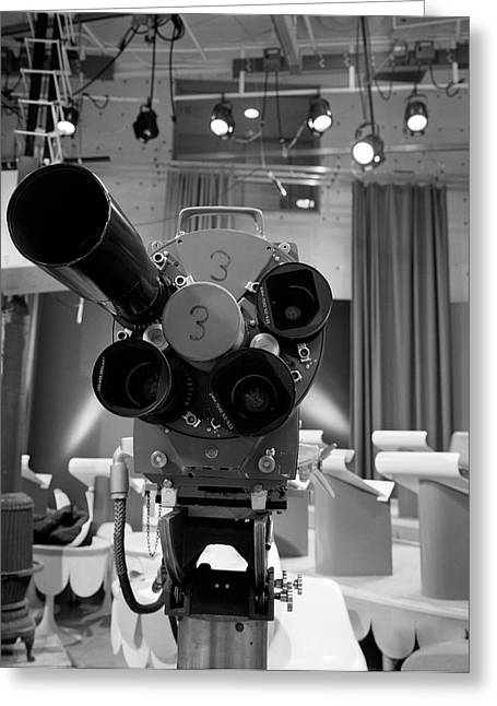 1960s Close-up Of Tv Camera Lenses Greeting Card