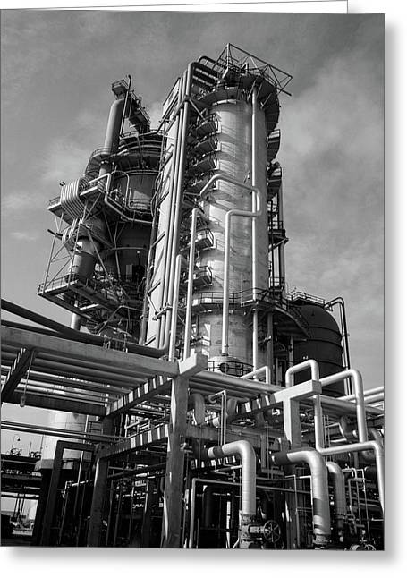 1960s Crude Oil Distillation Tower Greeting Card