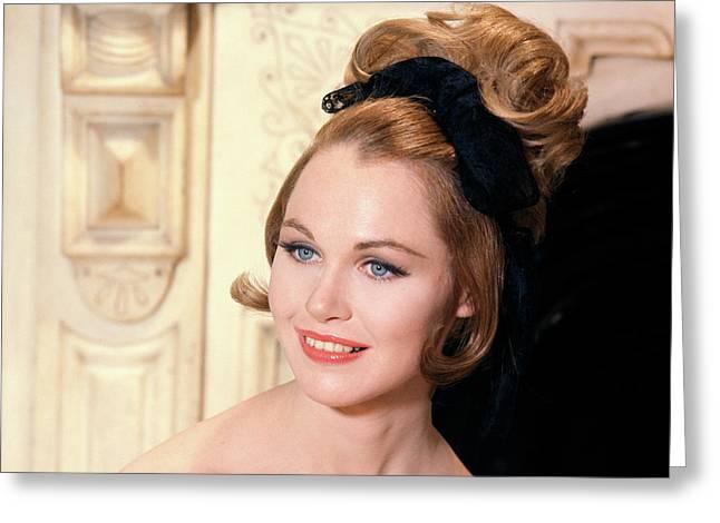 1960s High Fashion Blue Eyed Model Greeting Card