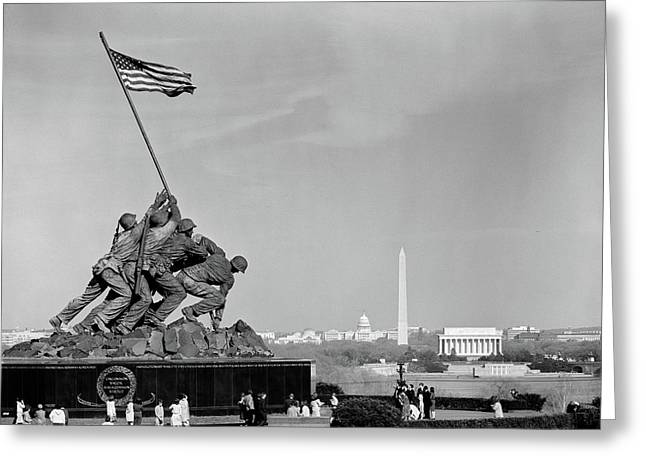 1960s Marine Corps Monument Greeting Card