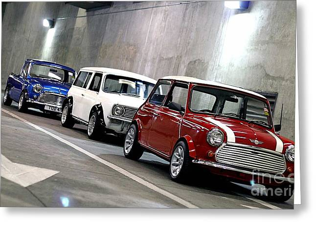 1960s Mini Cooper Greeting Card
