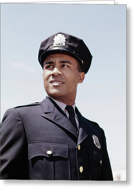 1960s Portrait African American Police Greeting Card