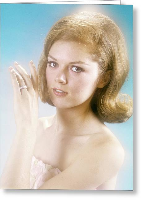 1960s Pretty Young Woman Looking Greeting Card