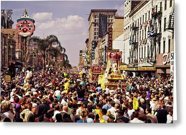 1960s Rex Parade On Canal Street Mardi Greeting Card