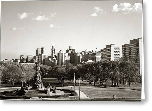 1960s Skyline Philadelphia Pennsylvania Greeting Card