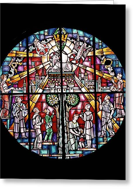 1960s Stained Glass By Willet All Greeting Card