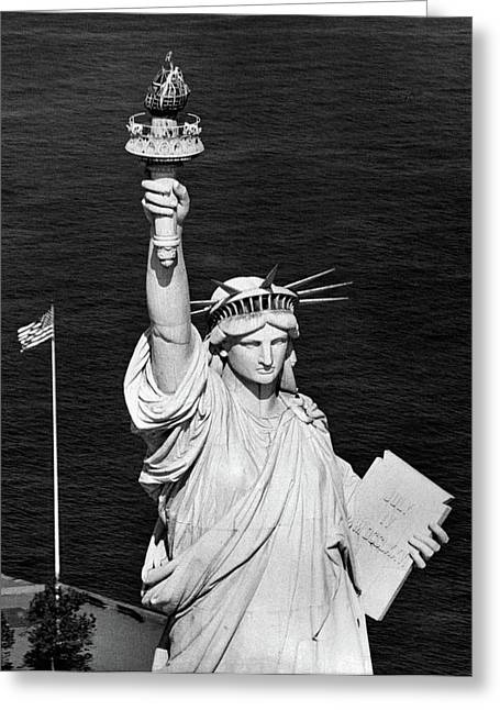 1960s Statue Of Liberty Shown Greeting Card