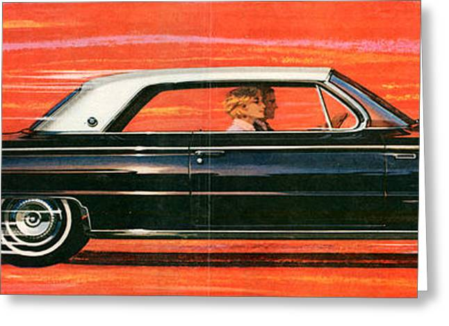 1960s Usa Buick Magazine Advert Detail Greeting Card