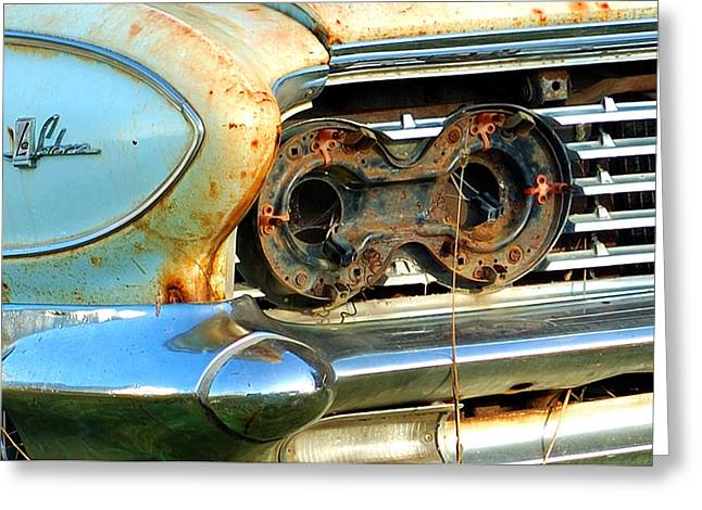 1961 Buick Lesabre Greeting Card by Ron Haist