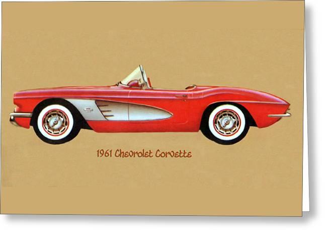 1961 Chevrolet Corvette Greeting Card