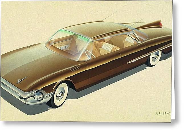 1961 Desoto  Vintage Styling Design Concept Rendering Sketch Greeting Card by John Samsen