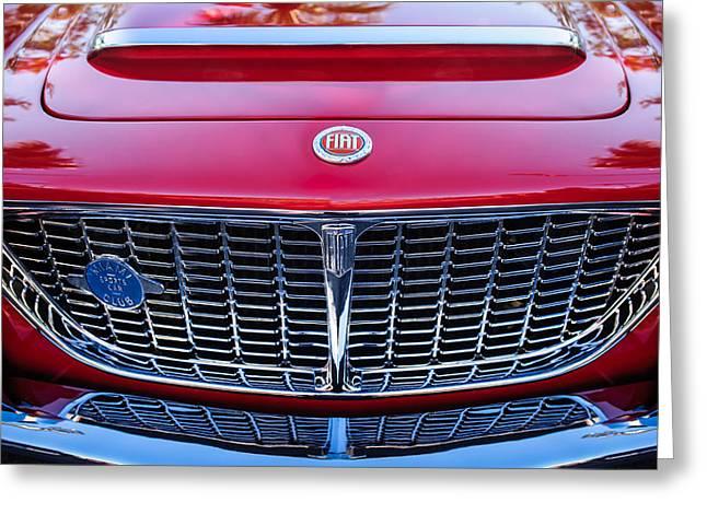 1961 Fiat Osca 1500s Spider Grille Emblem Greeting Card by Jill Reger