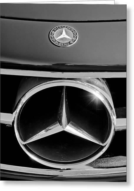1961 Mercedes-benz 300 Sl Grille Emblem Greeting Card