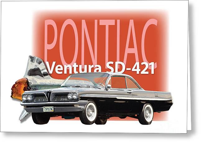 1961 Pontiac Ventura Sd-421 Greeting Card by Dan Knowler