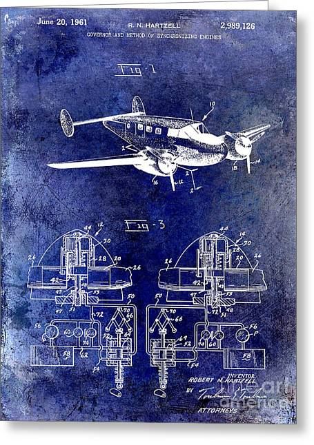 1961 Propeller Patent Drawing Greeting Card by Jon Neidert