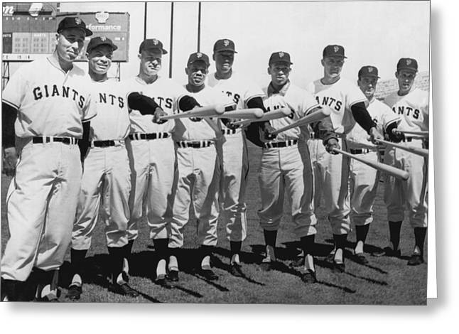 1961 San Francisco Giants Greeting Card by Underwood Archives