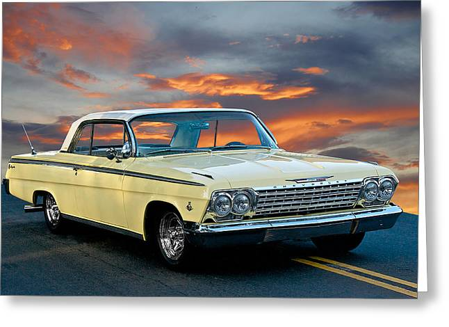 1962 Chevrolet Ss Impala Greeting Card by Dave Koontz