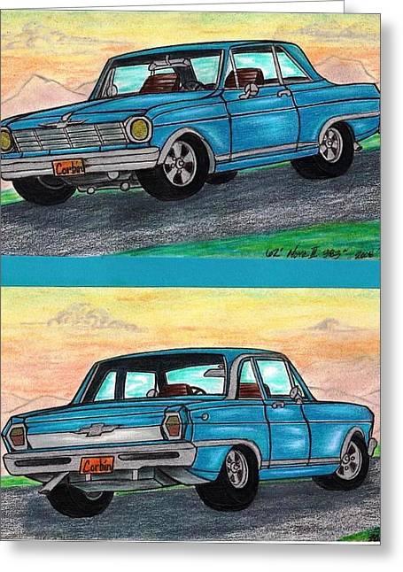 1962' Chevy Nova II Greeting Card