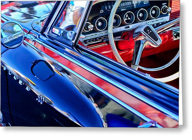 1962 Dodge Polara 500 Steering Wheel Greeting Card by Jill Reger